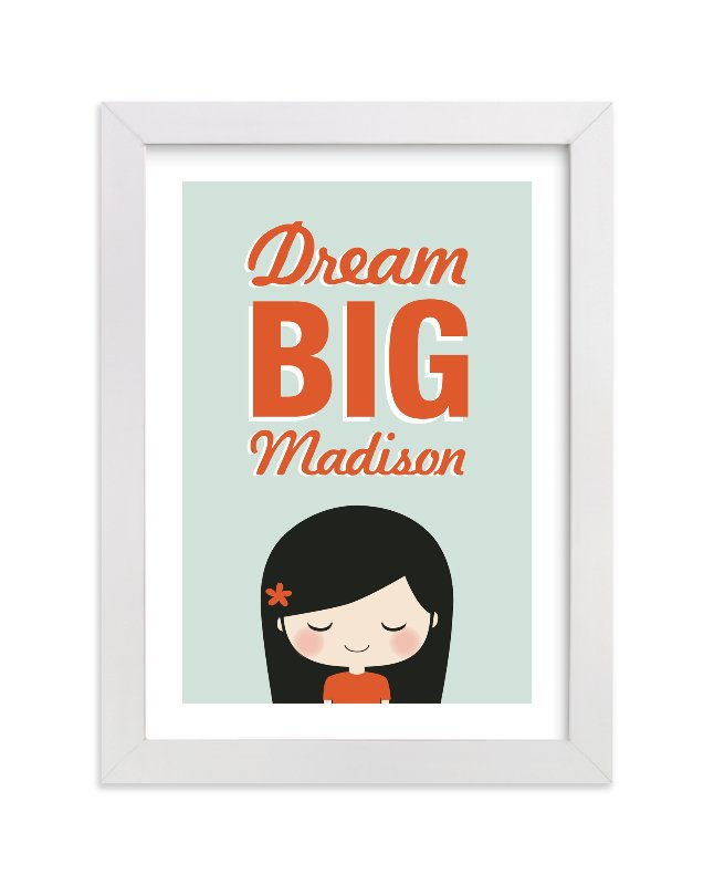"""""""Dream BIG"""" - Nursery Custom Art Print by Guess What Design Studio in beautiful frame options and a variety of sizes."""