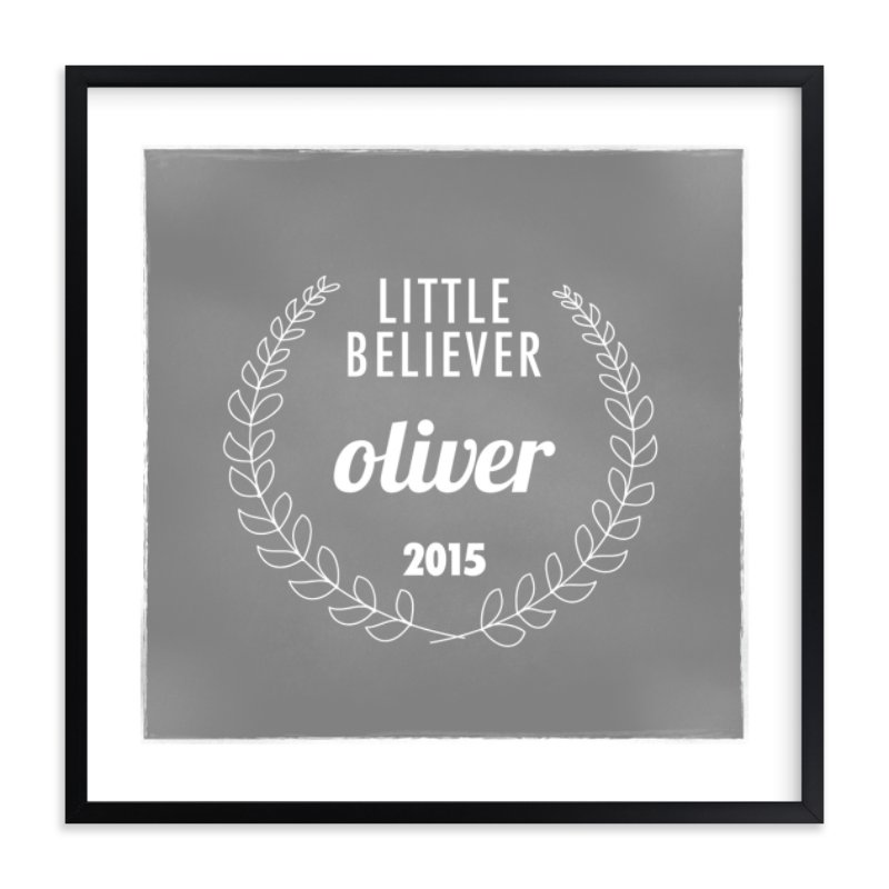 """Little Believer"" - Nursery Custom Art Print by That Girl Studio in beautiful frame options and a variety of sizes."
