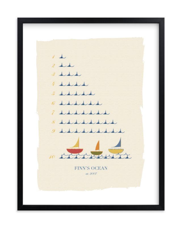 """The Counting Ocean"" - Nursery Custom Art Print by Michelle Enderton in beautiful frame options and a variety of sizes."