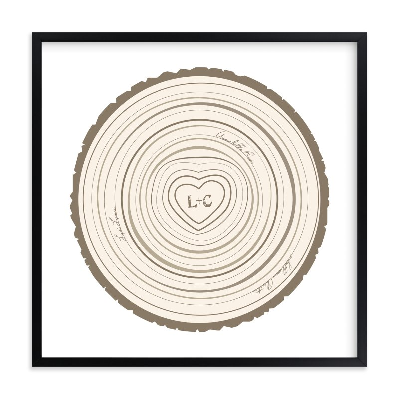 """Family Tree Rings"" - Nursery Custom Art Print by Jessie Steury in beautiful frame options and a variety of sizes."