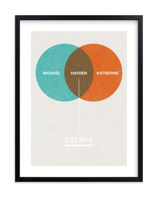 """Baby Venn Diagram"" - Nursery Custom Art Print by Shari Margolin in beautiful frame options and a variety of sizes."