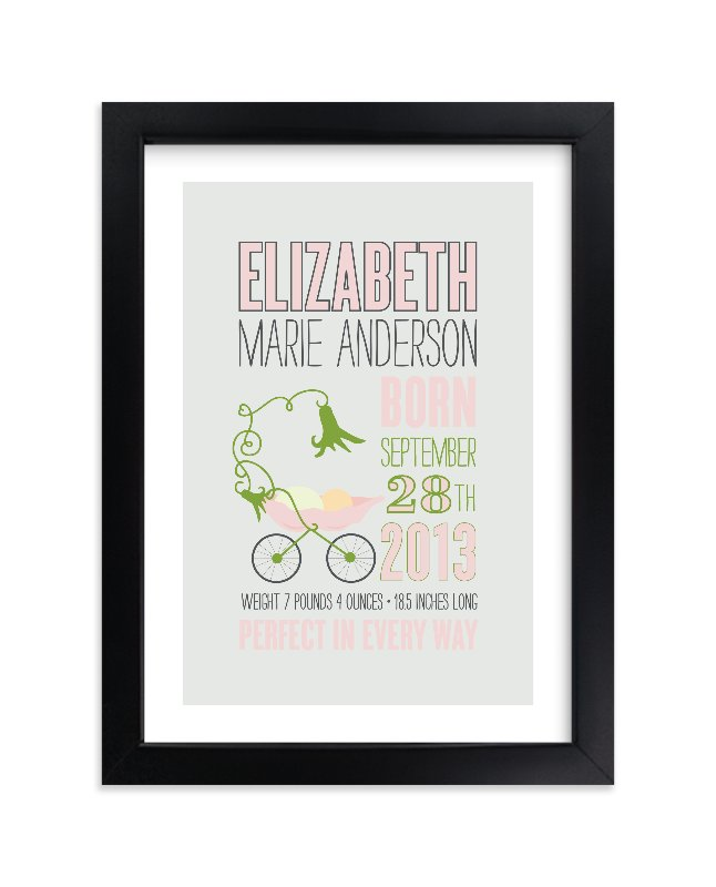 """""""Sweet Pea"""" - Nursery Custom Art Print by That Girl Press in beautiful frame options and a variety of sizes."""