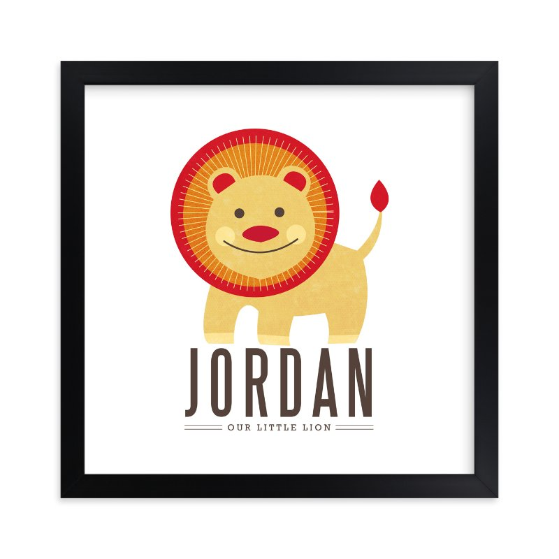 """""""little lion"""" - Nursery Custom Art Print by Kristen Smith in beautiful frame options and a variety of sizes."""