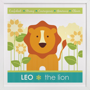 Zodiac Baby Leo Nursery Custom Art Print