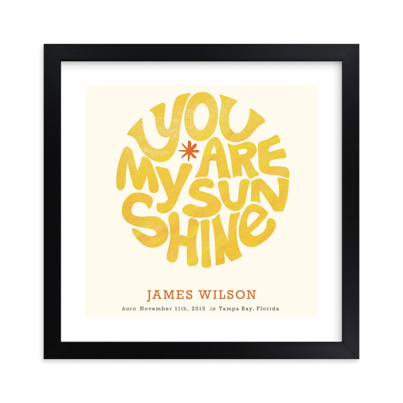 """""""Forever Sunshine"""" - Nursery Custom Art Print by Carrie ONeal in beautiful frame options and a variety of sizes."""