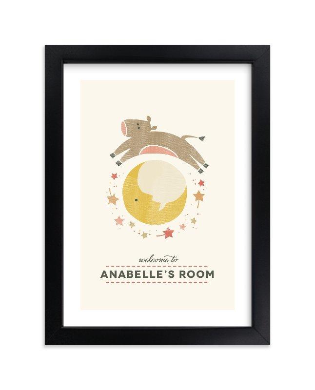Nursery Rhyme Custom Art Print By Kimberly Morgan In Beautiful Frame Options