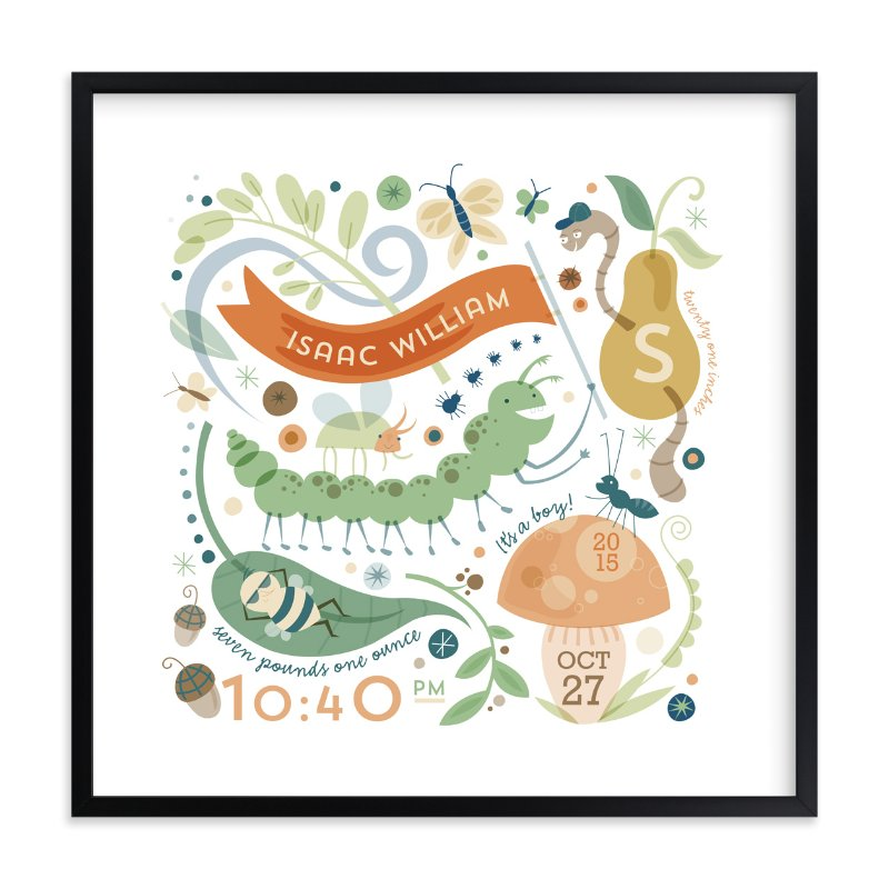 """""""Little Buggers"""" - Nursery Custom Art Print by Danielle Hartgers in beautiful frame options and a variety of sizes."""
