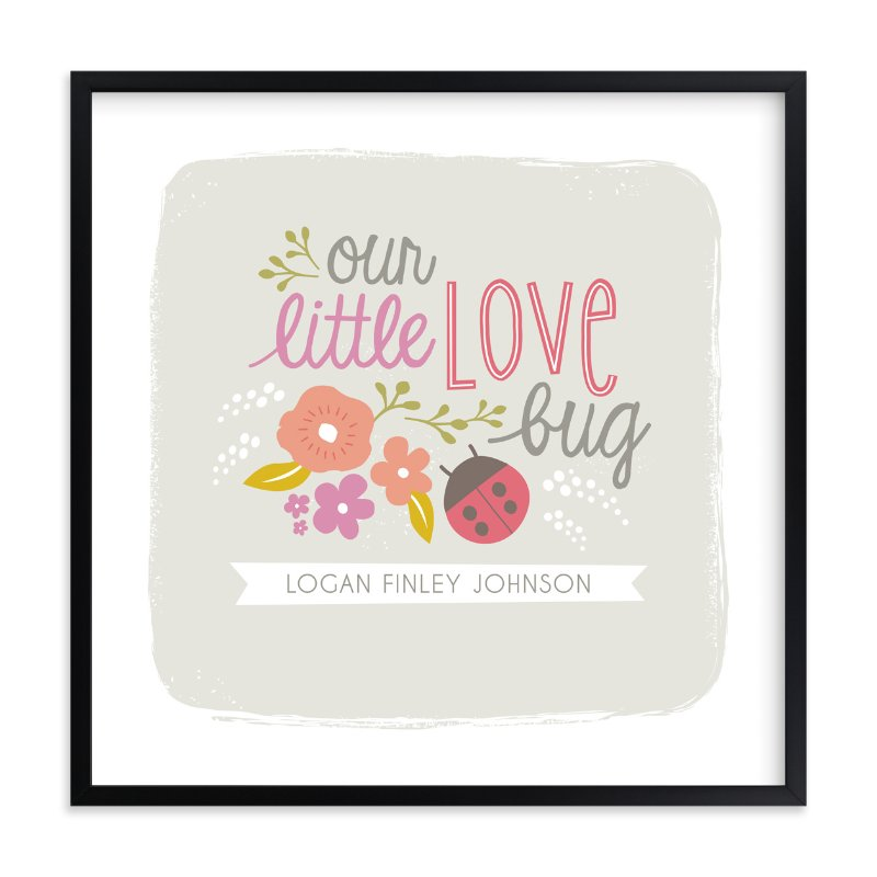 """""""Lady Love Bug"""" - Nursery Custom Art Print by Karidy Walker in beautiful frame options and a variety of sizes."""