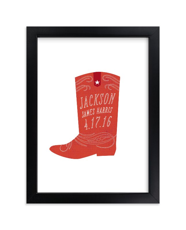 """""""Giddyup"""" - Nursery Custom Art Print by Olivia Raufman in beautiful frame options and a variety of sizes."""