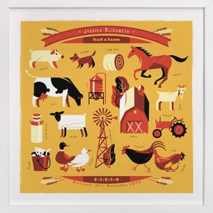 And on that Farm Nursery Custom Art Print