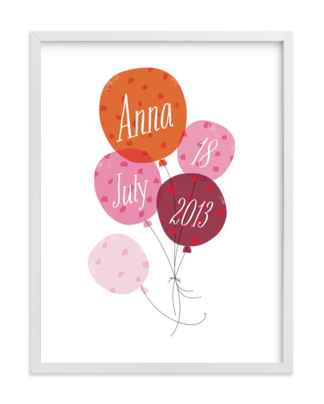 This is a pink nursery wall art by Kristie Kern called A Very Happy Day with standard.