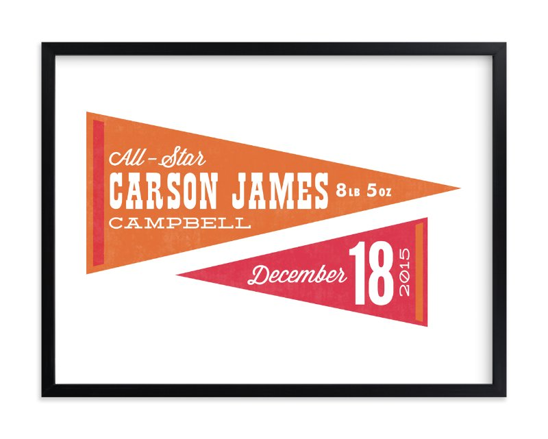 """""""All-Star Pennants"""" - Nursery Custom Art Print by Jessie Steury in beautiful frame options and a variety of sizes."""