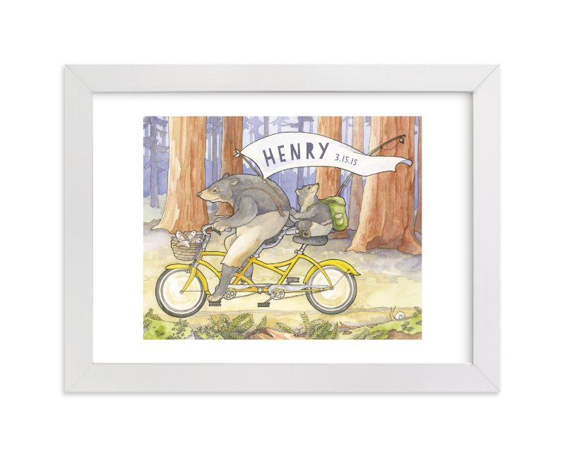 This is a grey nursery wall art by Natalie Groves called Name Bearers with standard.