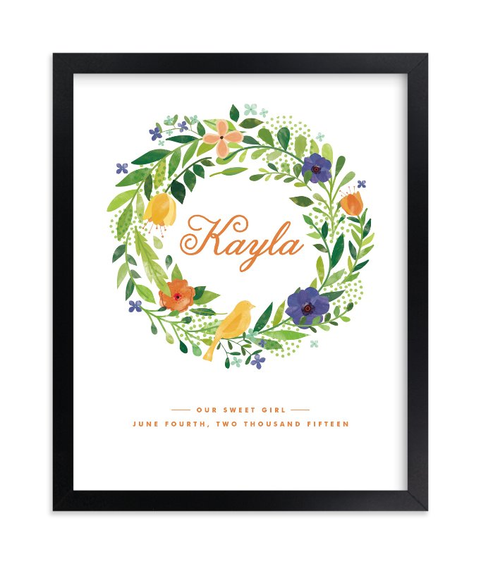 """""""Painted Wreath"""" - Nursery Custom Art Print by Ariel Rutland in beautiful frame options and a variety of sizes."""