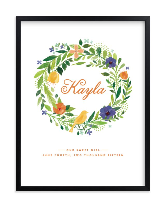 """Painted Wreath"" - Nursery Custom Art Print by Ariel Rutland in beautiful frame options and a variety of sizes."