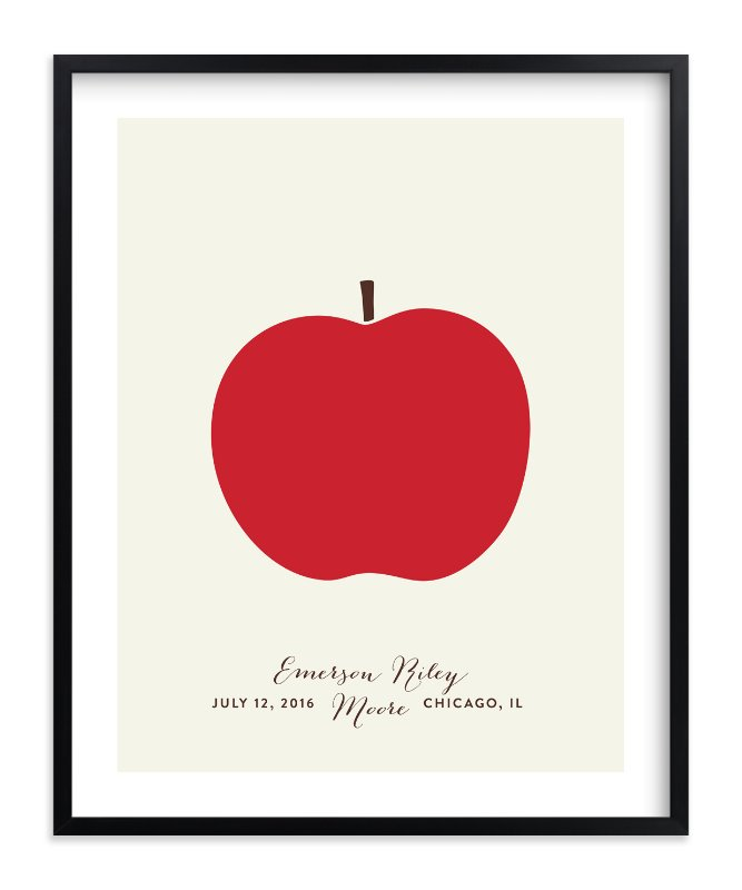 """""""Heirloom Apple"""" - Nursery Custom Art Print by Alexandra Stafford in beautiful frame options and a variety of sizes."""
