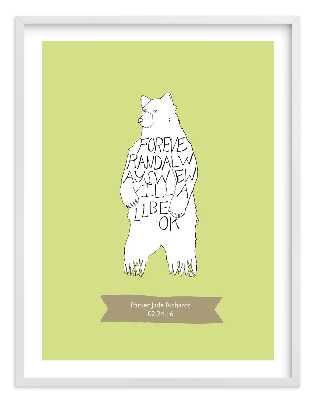"""""""We will All Be Okay"""" - Nursery Custom Art Print by Annada Hypes in beautiful frame options and a variety of sizes."""