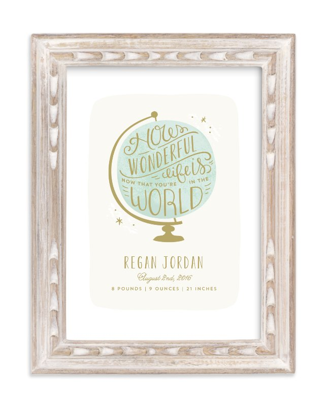"""How Wonderful"" - Nursery Custom Art Print by Laura Hankins in beautiful frame options and a variety of sizes."