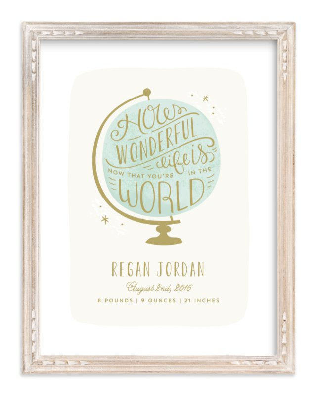 """""""How Wonderful"""" - Nursery Custom Art Print by Laura Hankins in beautiful frame options and a variety of sizes."""