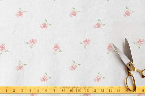 Watercolor Roses Fabric