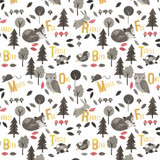 Woodland Animals Alphabet