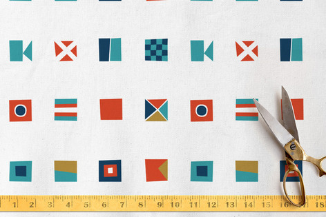 Nautical Flags Fabric