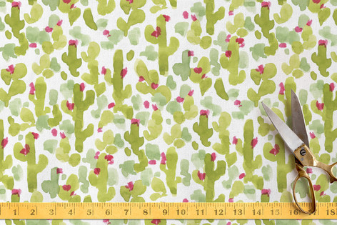 Prickly Pear Cacti Fabric