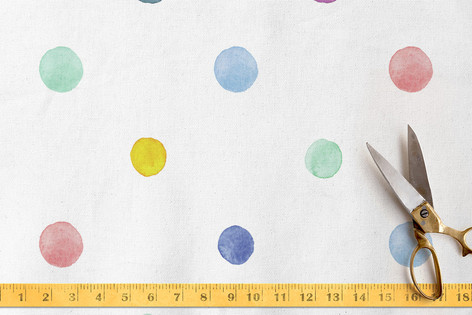 Watercolor Dots Fabric