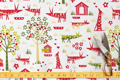 Orchard Animals Fabric