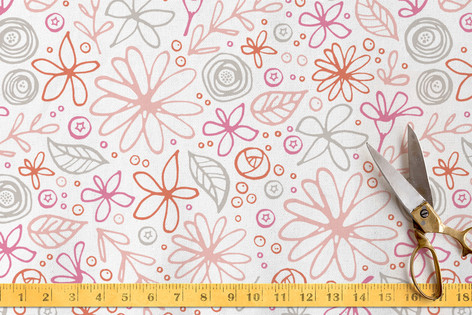 Field of Asters Fabric