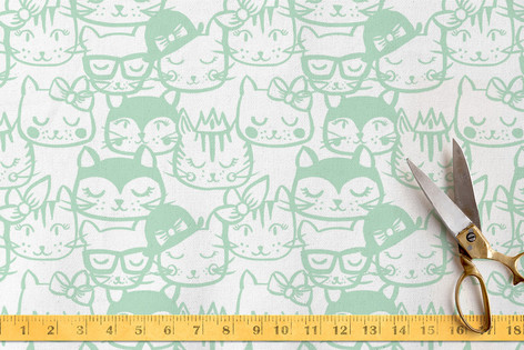 Kitty Kitty Face Fabric
