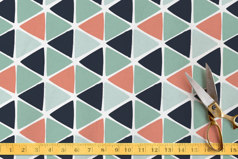 Geometric Triangles Fabric