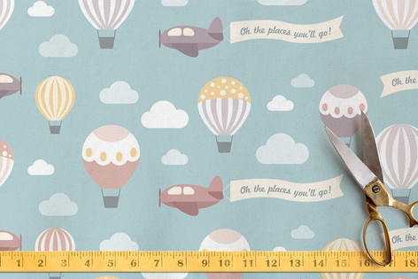 Oh The Places Youll Go Fabric By Chelsey Scott Minted