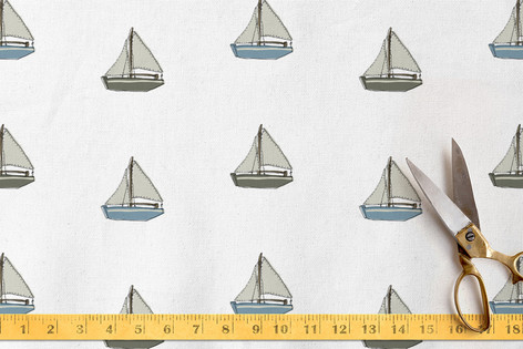Toy boats Fabric