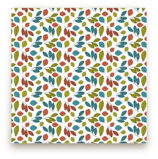 Illustrated Leaves Fabric