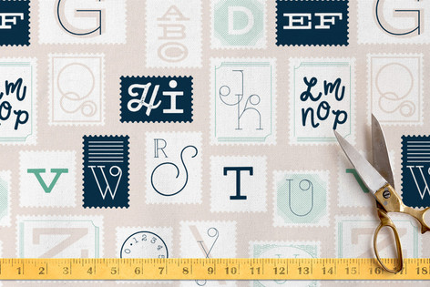 ABC Stamps Fabric