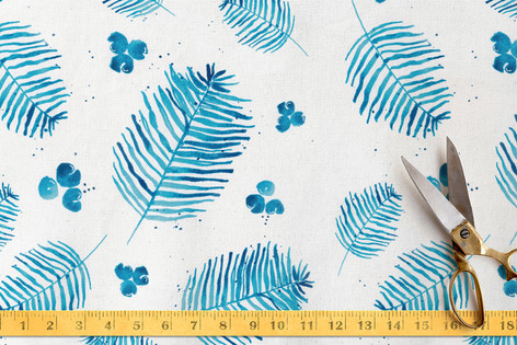 Ferns and Berries Fabric