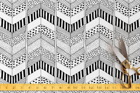Organic Herringbone Fabric