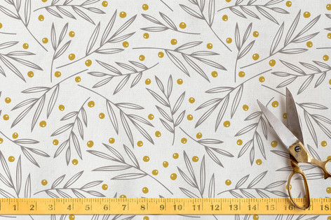Leafy Berries Fabric