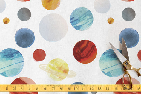 Planet Dots Fabric