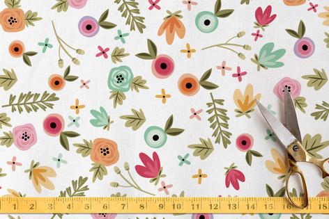 Springtime Floral Fabric