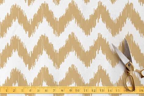 ikat chevron Fabric