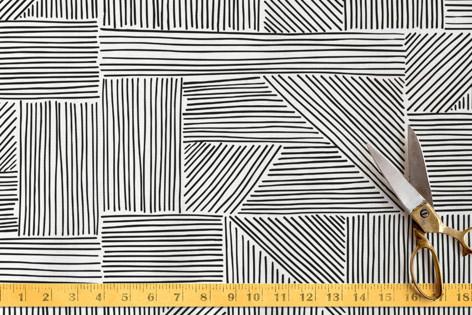 Sketchbook Geometric Fabric
