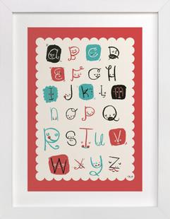ABC Friends Nursery Art Print