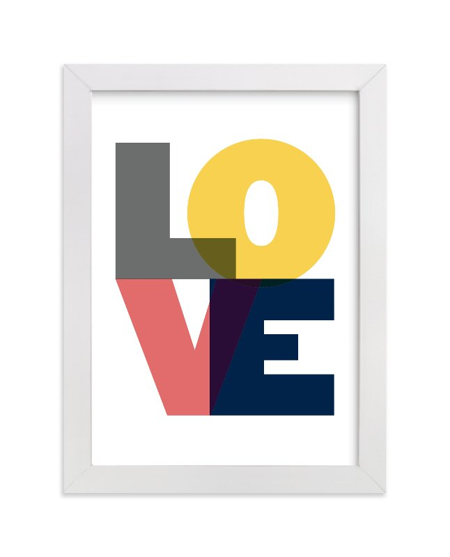 """Love"" - Limited Edition Art Print by Max and Bunny in beautiful frame options and a variety of sizes."