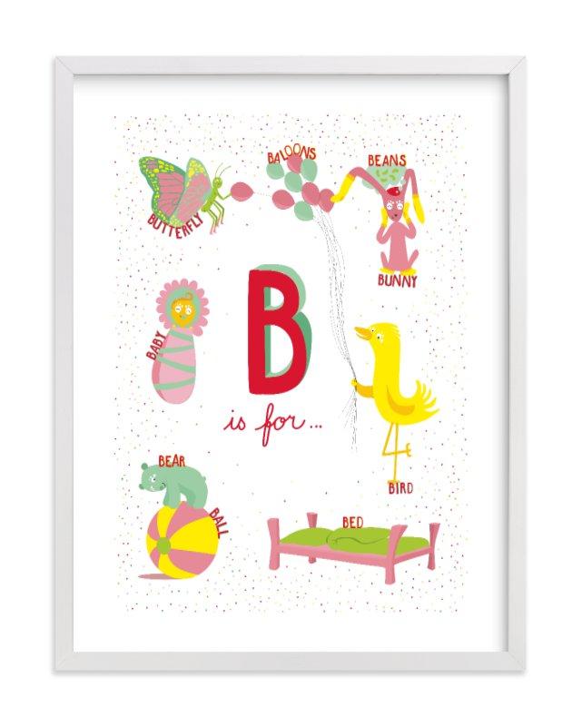 """""""B is For"""" - Limited Edition Art Print by Tereza Šašinková Lukášová in beautiful frame options and a variety of sizes."""