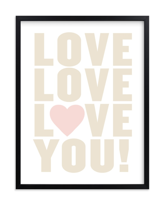 """""""Love You!"""" - Limited Edition Art Print by Max and Bunny in beautiful frame options and a variety of sizes."""