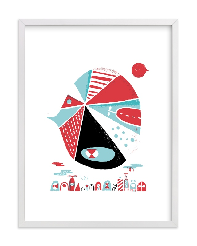 """""""Glink Glunk"""" - Limited Edition Art Print by ERAY in beautiful frame options and a variety of sizes."""