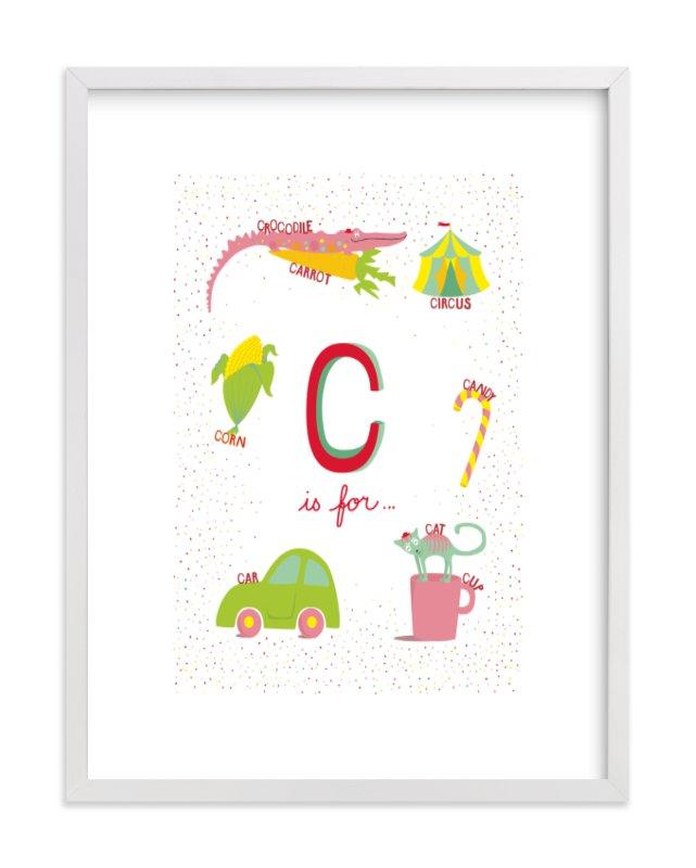 """""""C is For.."""" - Limited Edition Art Print by Tereza Šašinková Lukášová in beautiful frame options and a variety of sizes."""