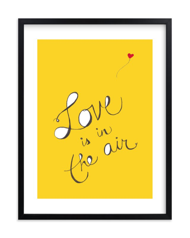 """Love is in the Air"" - Limited Edition Art Print by Mayel in beautiful frame options and a variety of sizes."